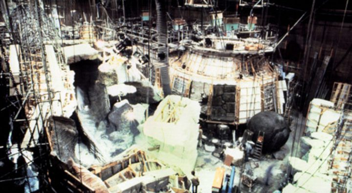 The exterior shells of the set that make up the individual areas of the temple. Image: Paramount Pictures   Screencrush